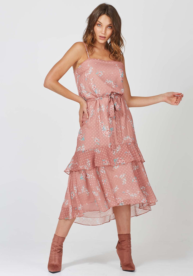 Hemisphere Freya Floral Midi Dress by Three of Something Australia