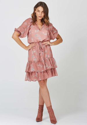 Hemisphere Floral Luna Dress Floral Party Dress by Three of Something Australia