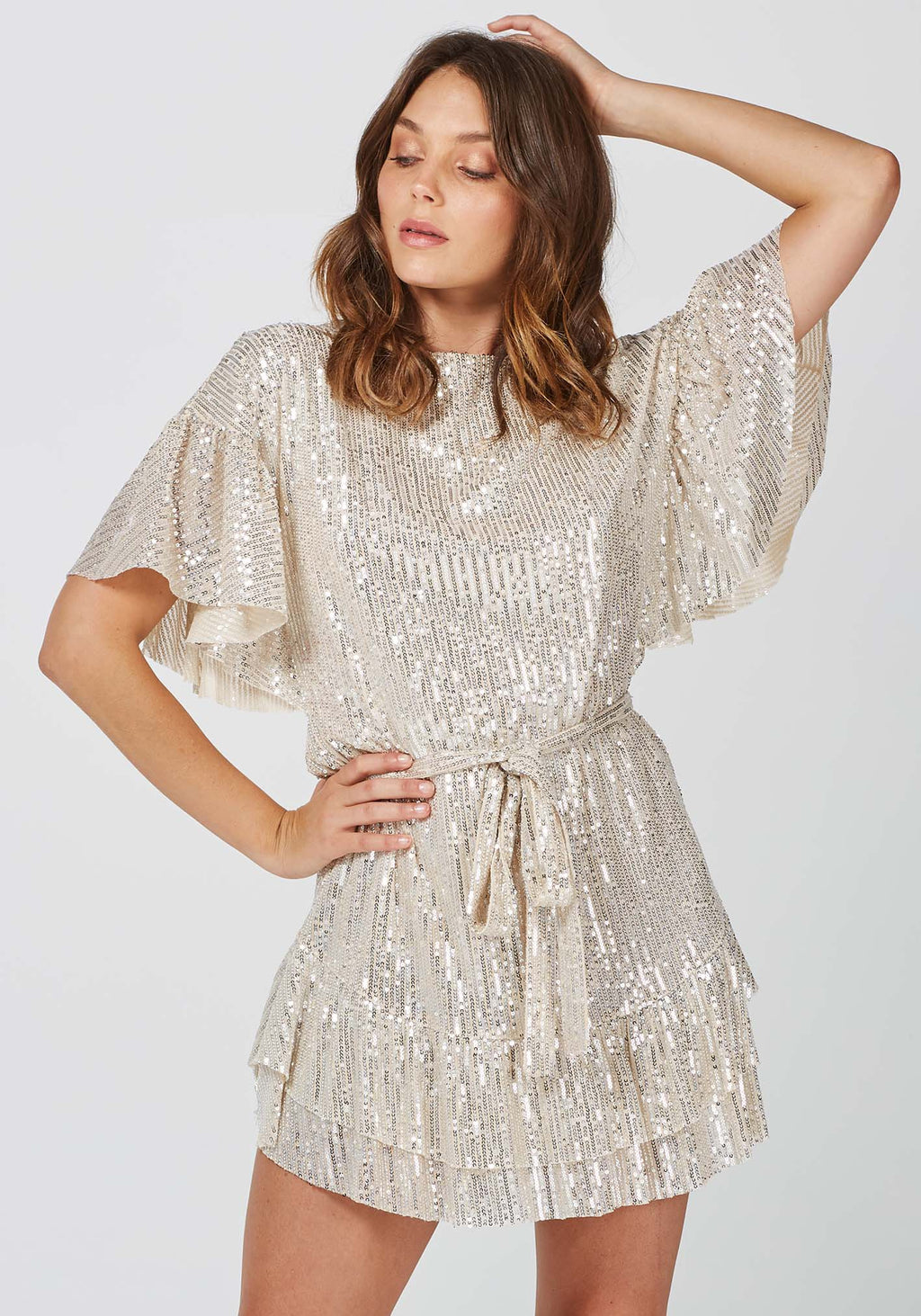 Hereafter Dress Sequin Mesh Party Dress by Three of Something Sydney Australia