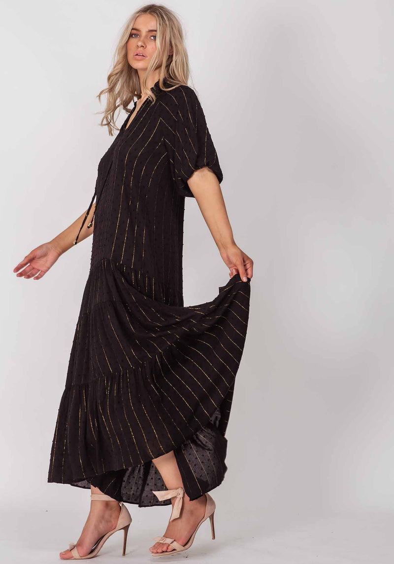 Lazy Days Black Summer Maxi Dress by Three of Something Sydney Australia