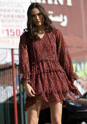 Melrose Avenue Floral Dress by Three of Something Sydney Australia