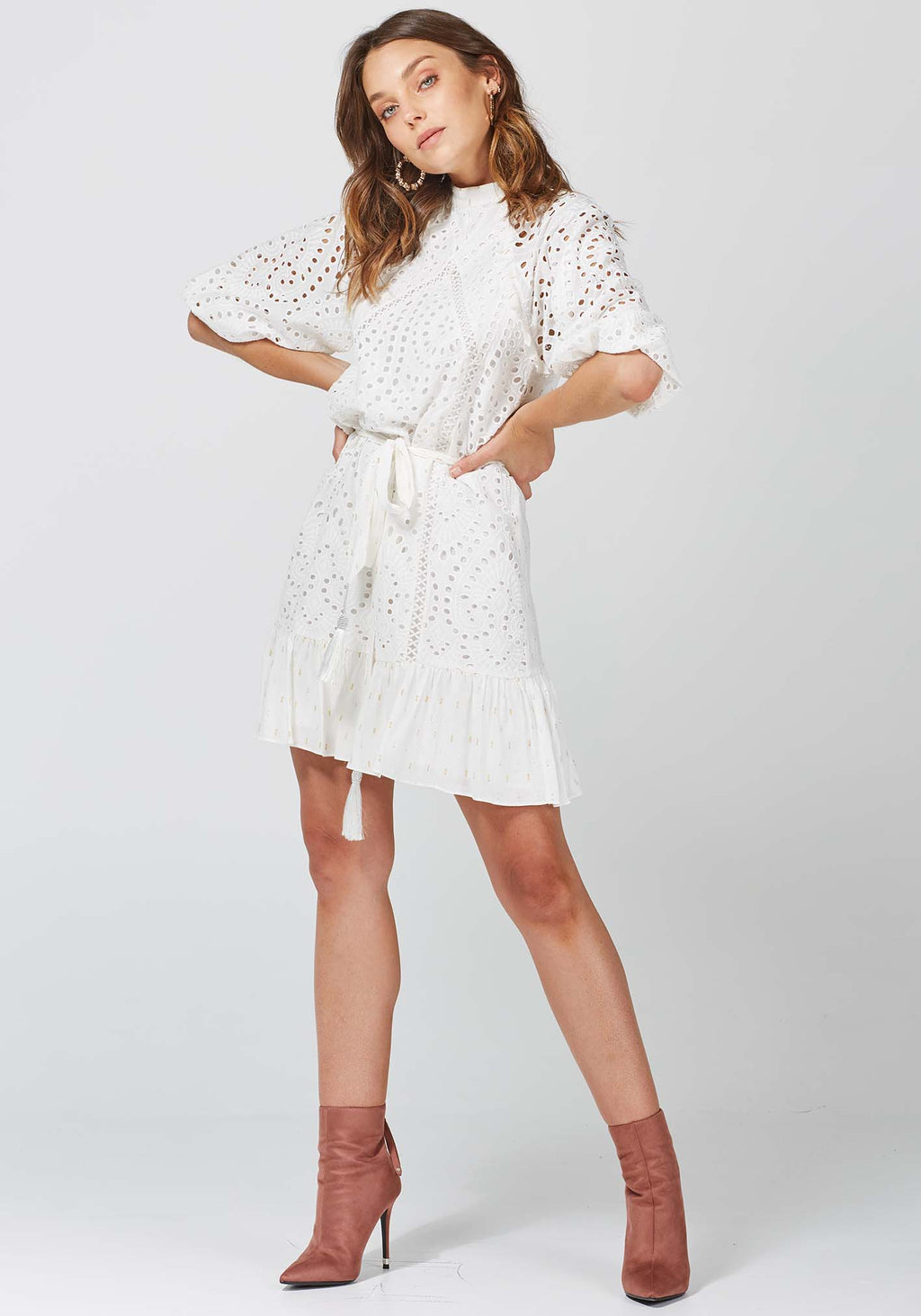New Life White Party Dress by Three of Something Sydney Australia