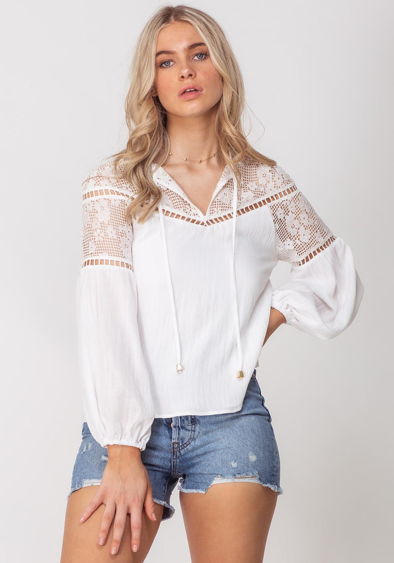 Summer Picnic White Summer Blouse by Three of Something Sydney Australia