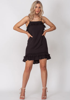 Roll the Dice Black Summer Party Dress by Three of Something Sydney Australia