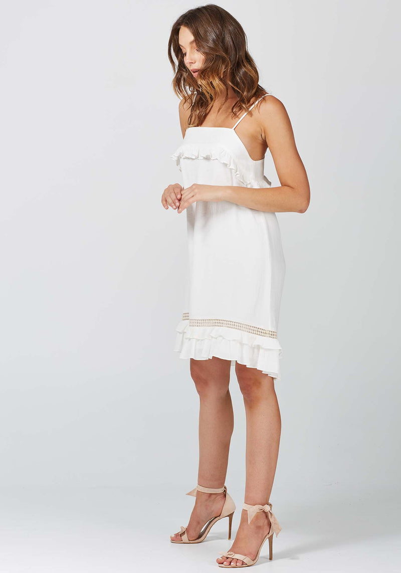 Roll the Dice White Summer Dress by Three of Something Sydney Australia