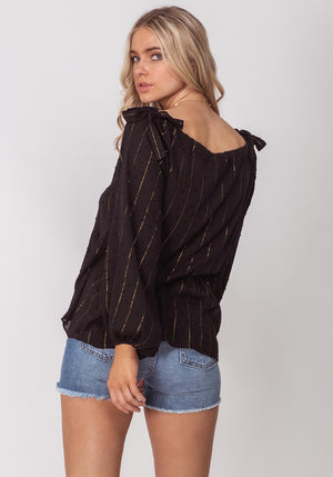 Seaside Black Summer Blouse | Three of Something Sydney Australia