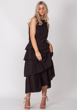 Serendipity Black Maxi Dress by Three of Something Sydney Australia