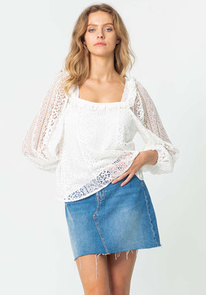 Stevie White Lace Blouse by Three of Something Sydney Australia