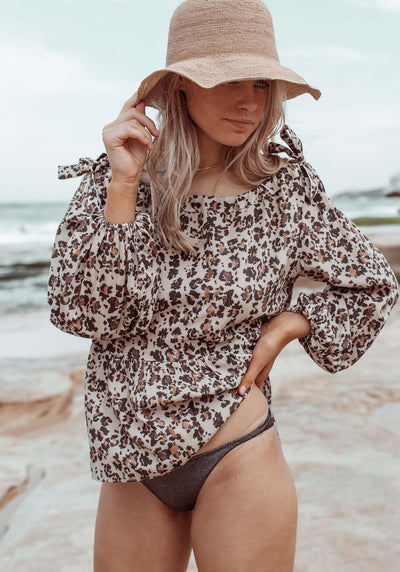 Summer Leopard Shoreline Blouse | Leopard Print Blouse | Three of Something Sydney Australia