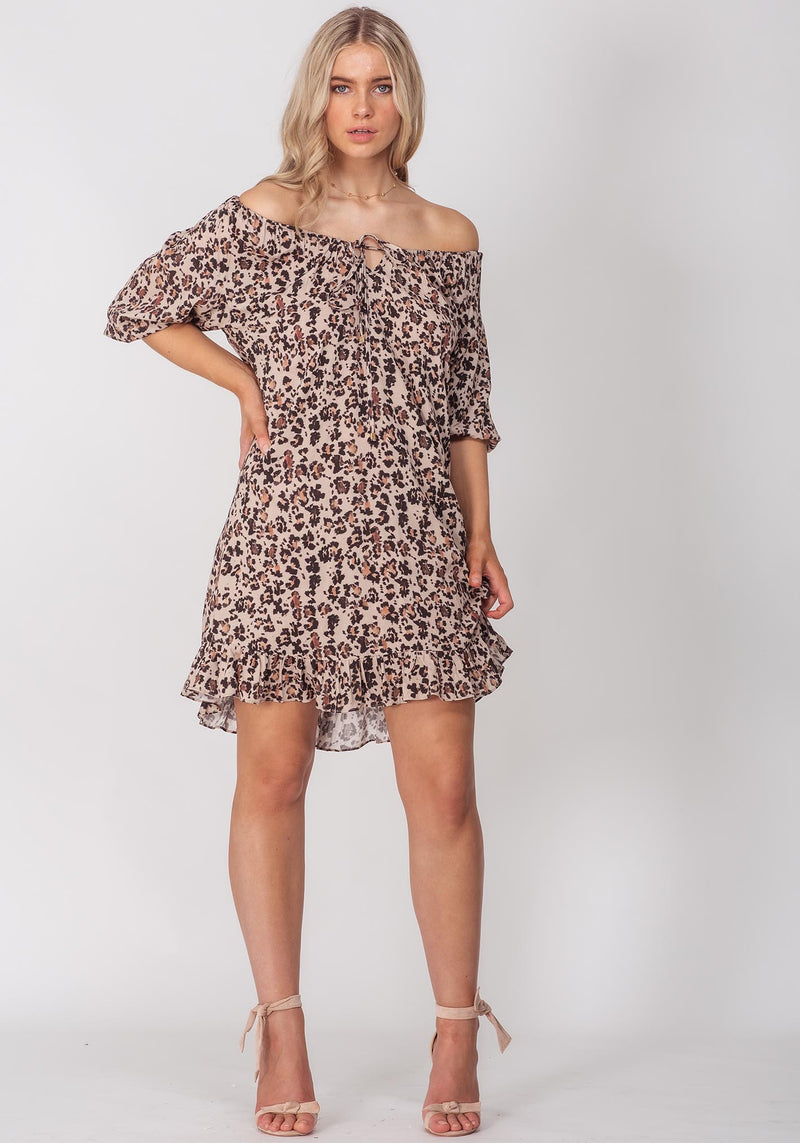 Summer Leopard Vacation Dress | Leopard Print Party Dress | Three of Something Sydney Australia