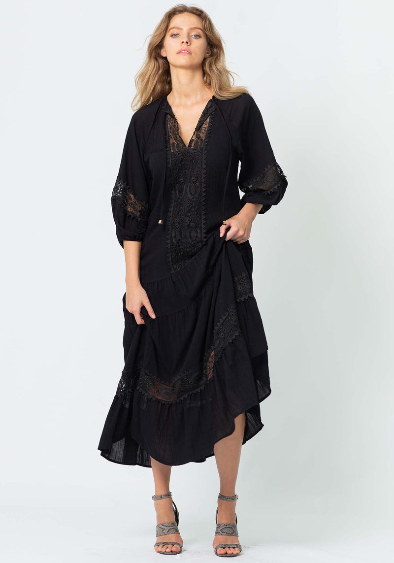 Sweet Escape Maxi Dress | Black
