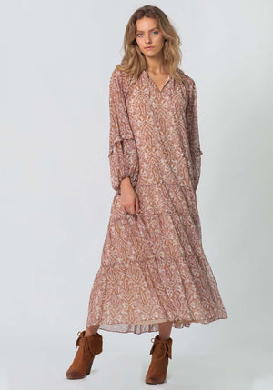 Aura Paisley Spell Maxi Dress | Paisley Printed Maxi Dress by Three of Something Sydney Australia