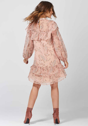 Cybele Paisley Folk Dress Printed Paisley Dress by Three of Something