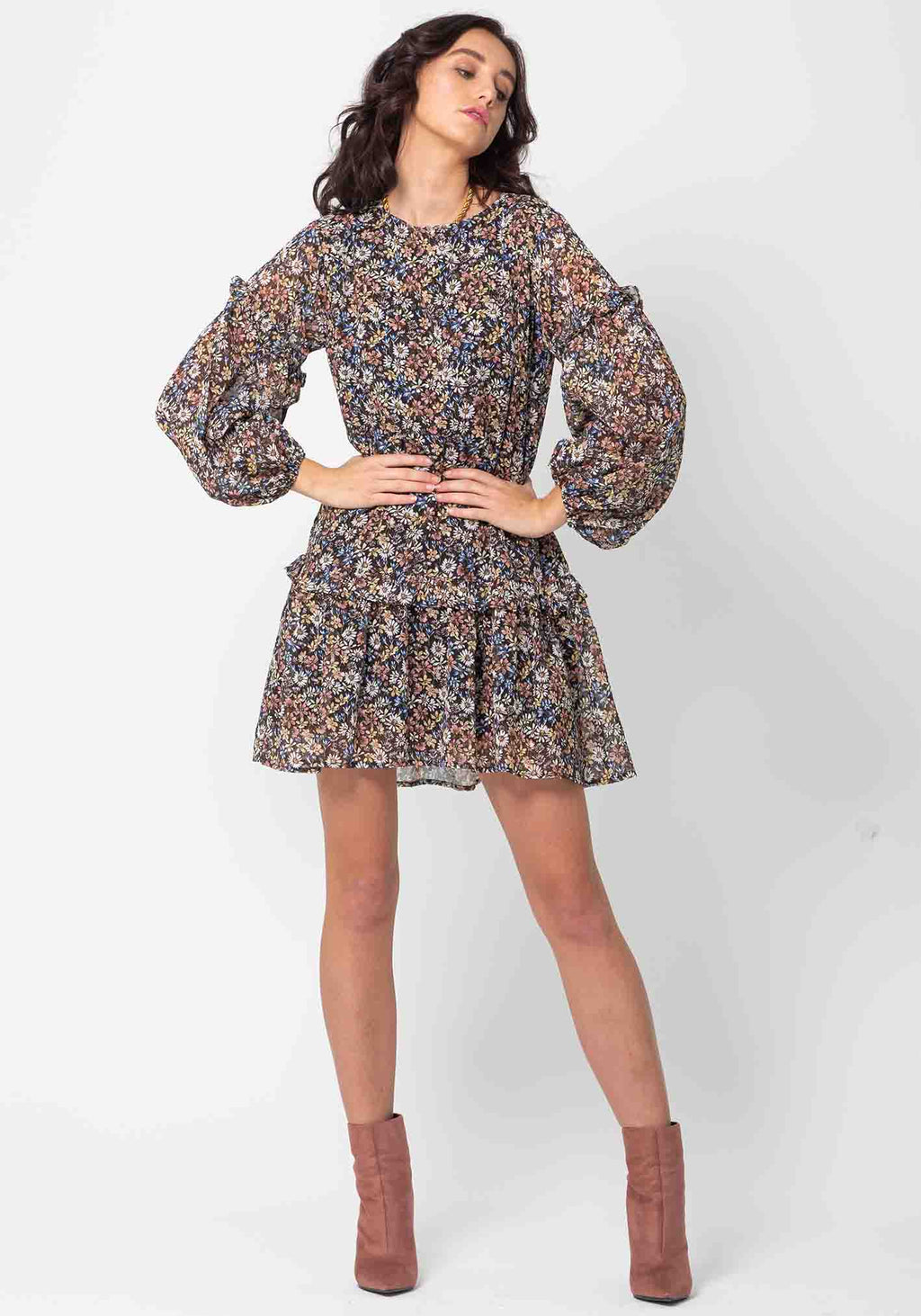 Dark Meadow Floral Logan Dress