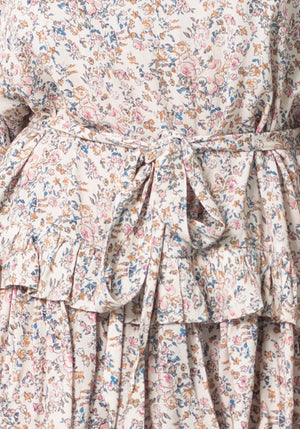 Empire Floral River Dress | Floral Party Dress by Three of Something Sydney Australia