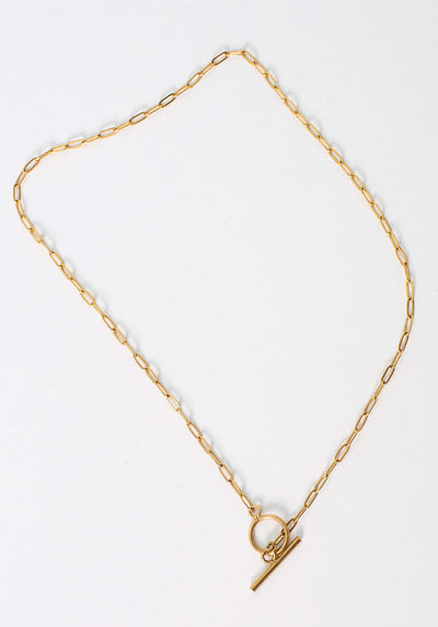 The Forever Gold Chain Fob Necklace by Three of Something Sydney Australia