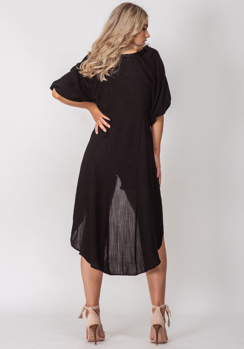 Forever Sunset Black High Low Blouse by Three of Something Sydney Australia
