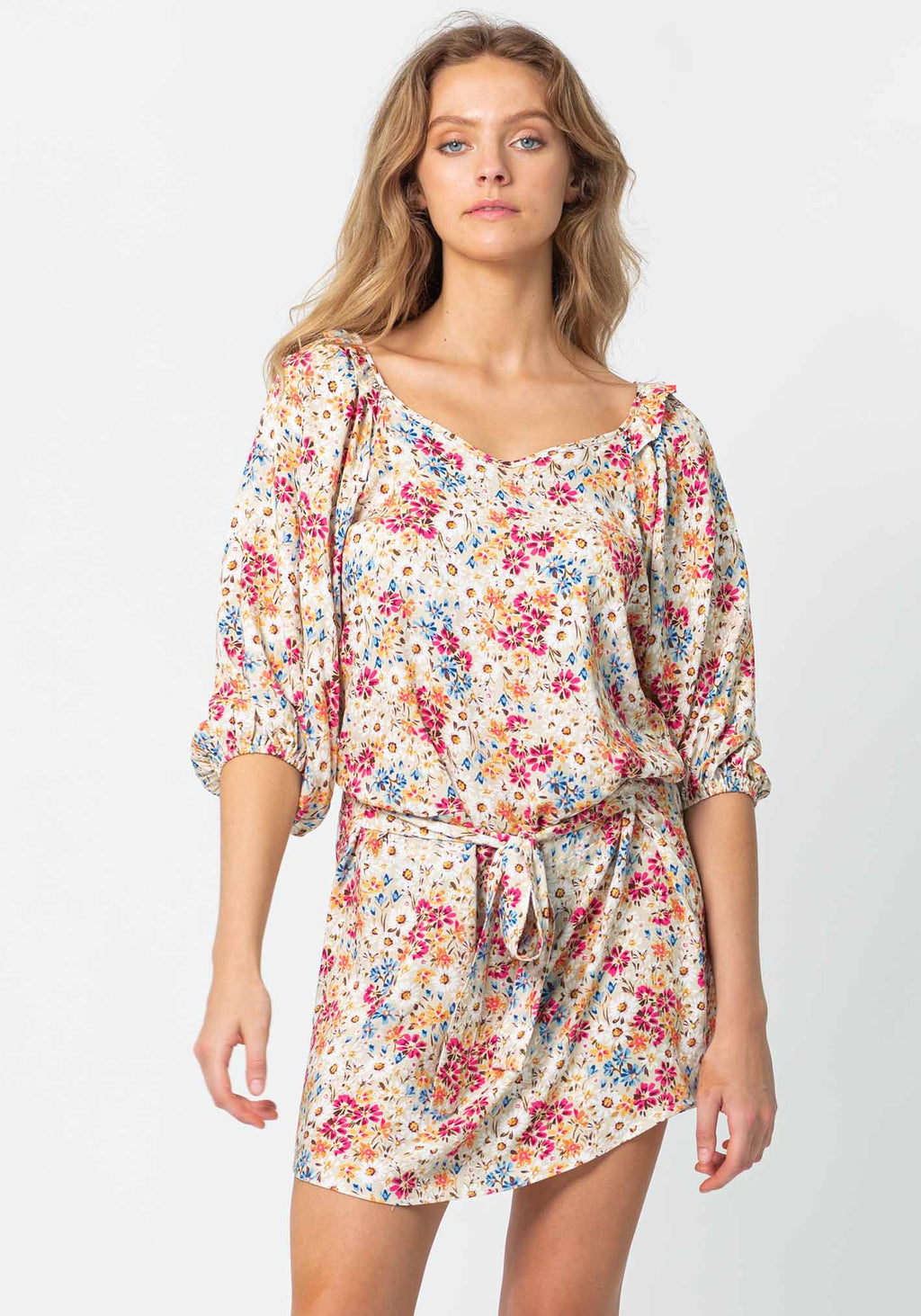 Light Meadow Floral Witchery Party Dress by Three of Something Sydney Australia