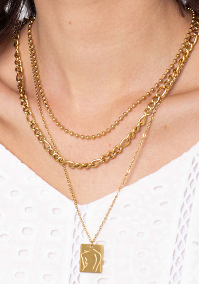 18K Gold Plated Necklace set by Three of Something Sydney Australia