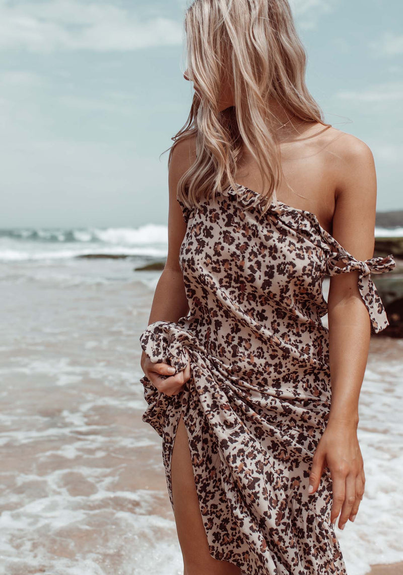 Summer Leopard Paradiso Dress | Leopard Print Maxi Dress | Three of Something Australia