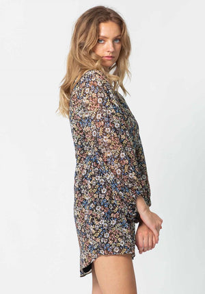 Dark Meadow Floral Galaxy Dress | Floral Party Dress by Three of Something Sydney Australia