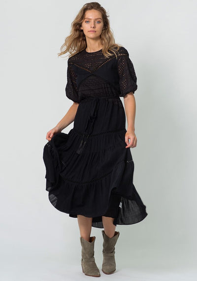Tomorrow Utopia Black Maxi Dress by Three of Something Sydney Australia
