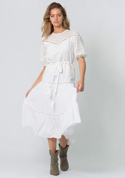 Tomorrow Utopia White Maxi Dress by Three of Something Sydney Australia