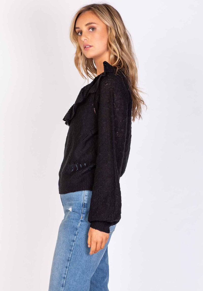Cascades Black Womens Soft Knit by Three of Something Sydney Australia