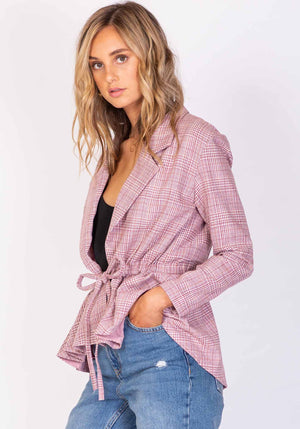 Whisky Pink Blazer Jacket by Three of Something Sydney Australia