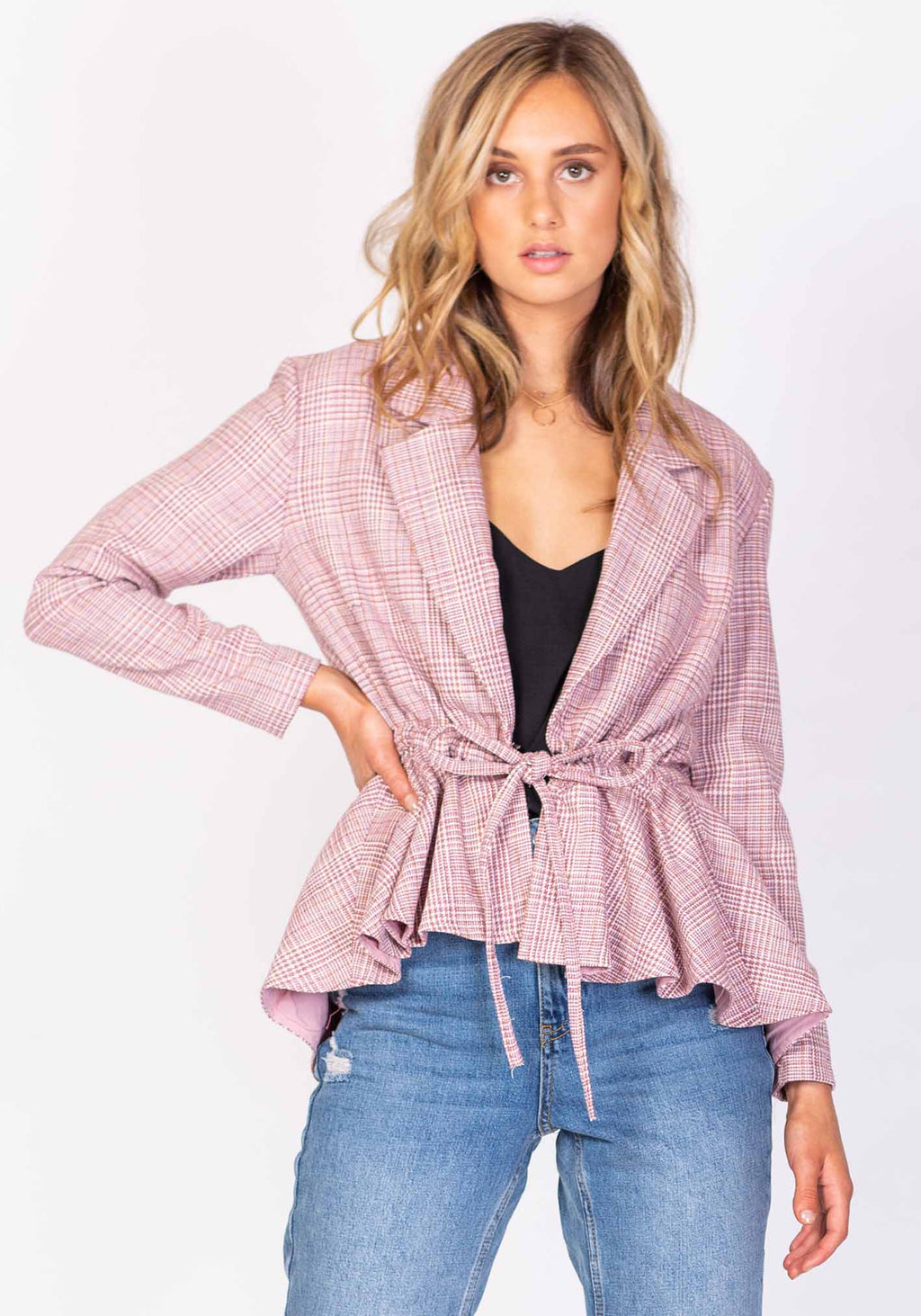 Whisky Pink Blazer by Three of Something Sydney Australia