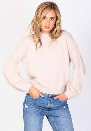 Huckleberry Fluffy Pink Jumper by Three of Something Sydney Australia