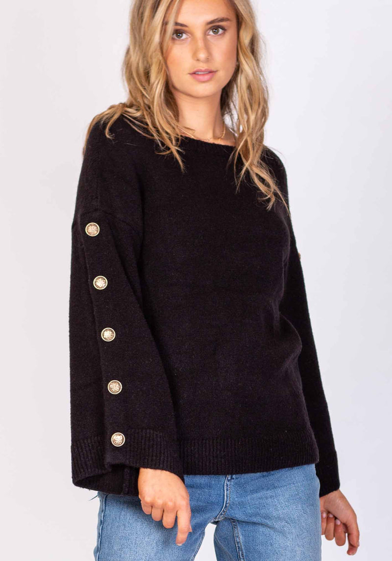 Wanderer Black Womens Knit by Three of Something Sydney Australia