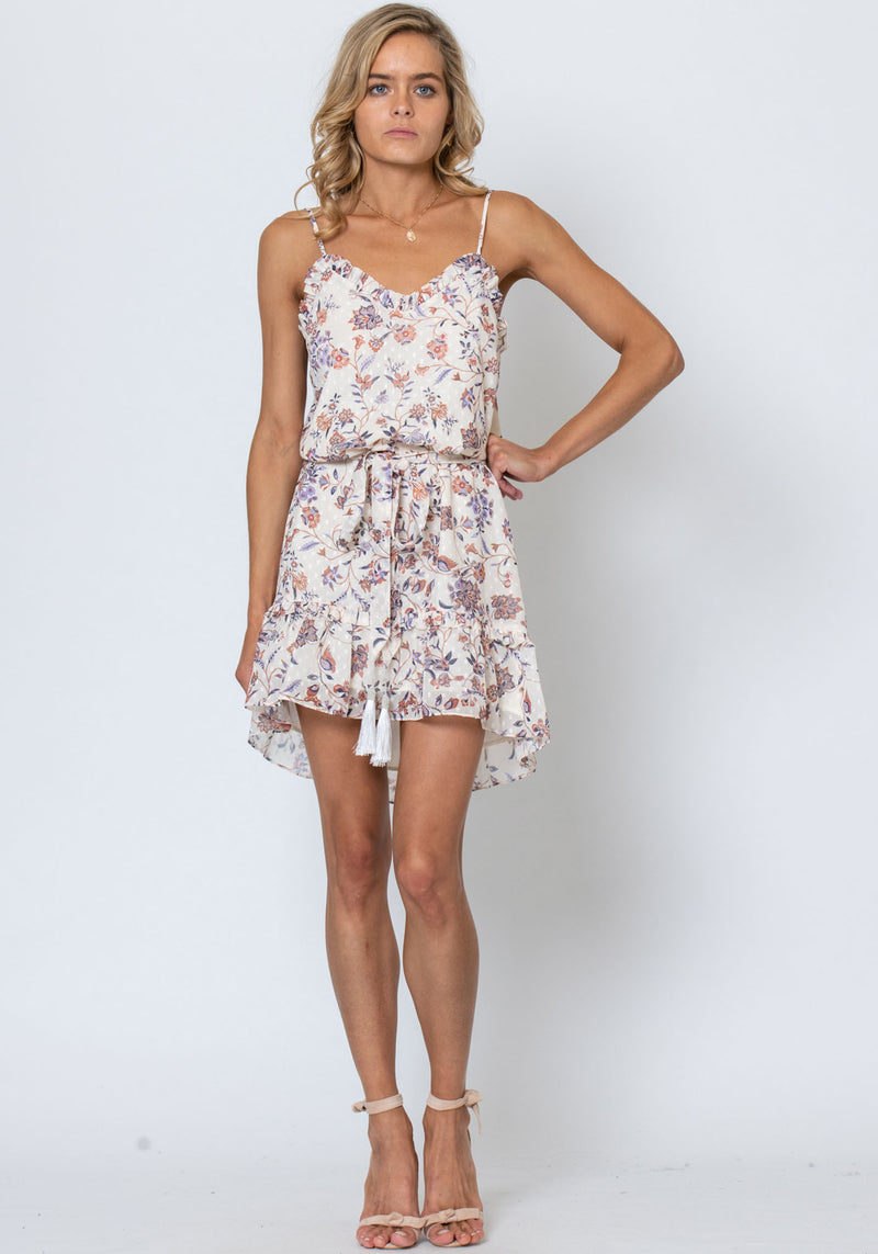 Temple Floral Lovina Printed Floral Mini Dress by Three of Something Sydney Australia
