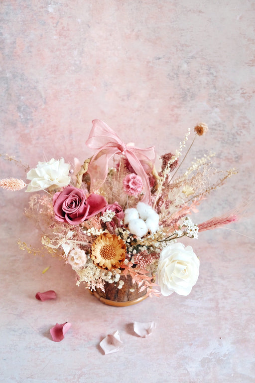 Mini Dried Flower Basket A