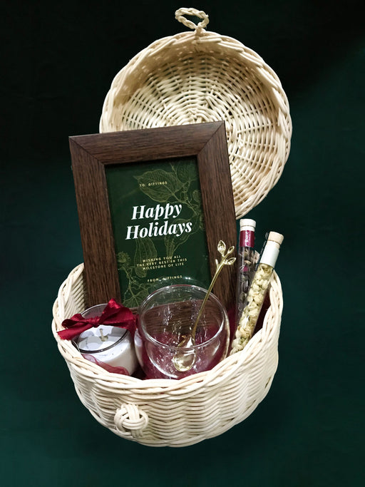 Holiday Rattan Basket
