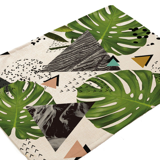 Geometric Tropical Marble Placemat (Set of 4)