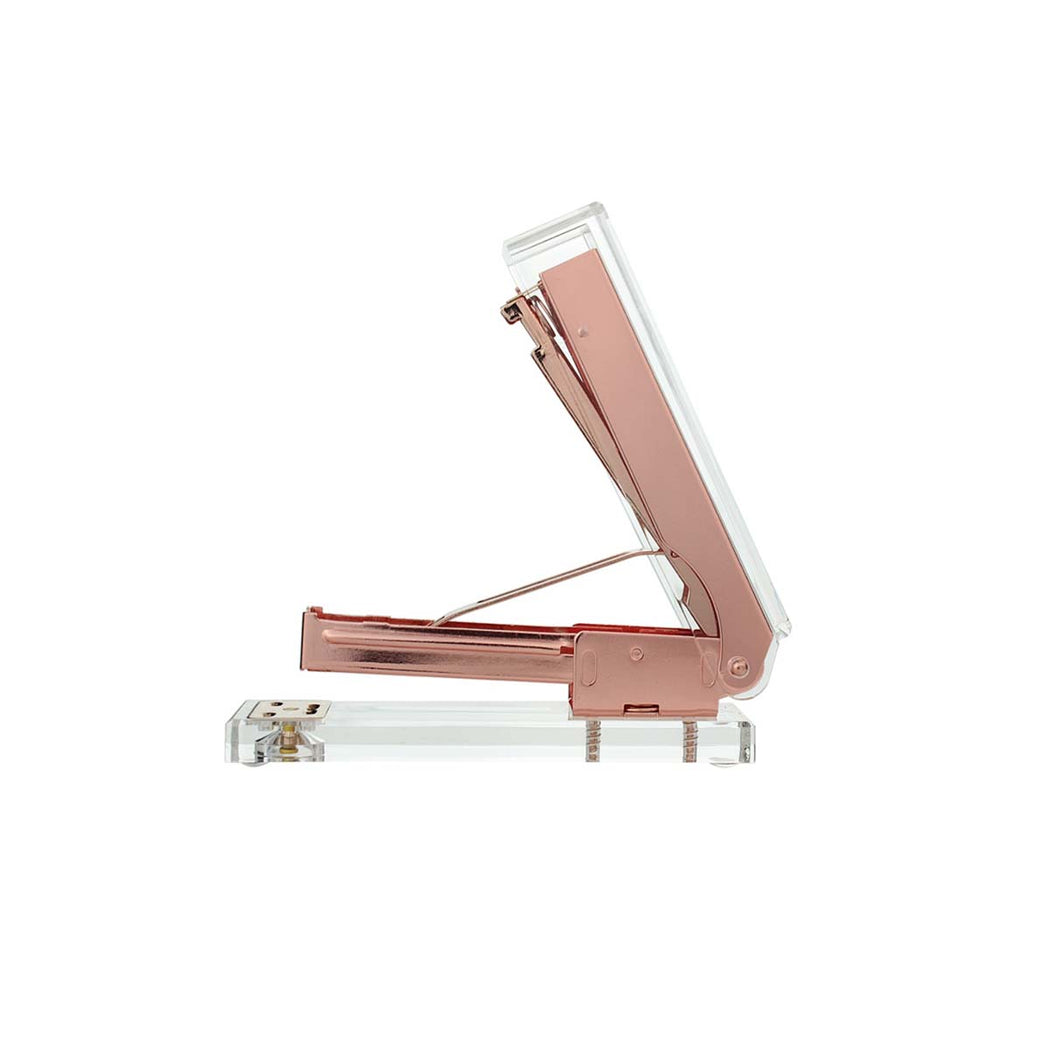 Decco Rose Gold Stapler Open