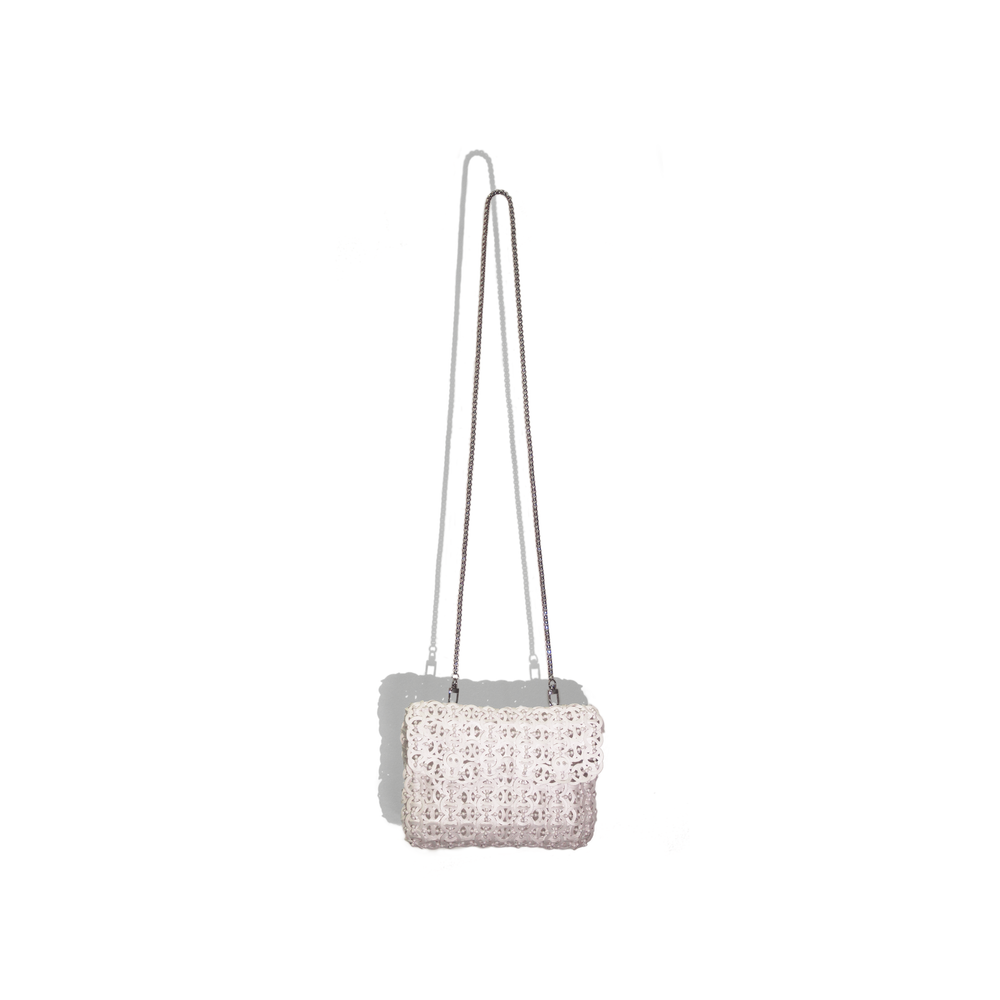 Repleat White Saturn Clutch Decco Lifestyle