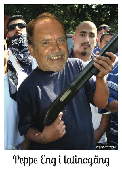 Peppe Eng i latinogäng - A3 Poster