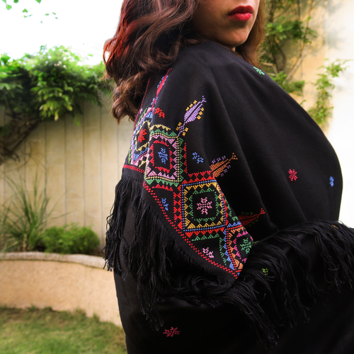 Embroidered Scarves and Shawls
