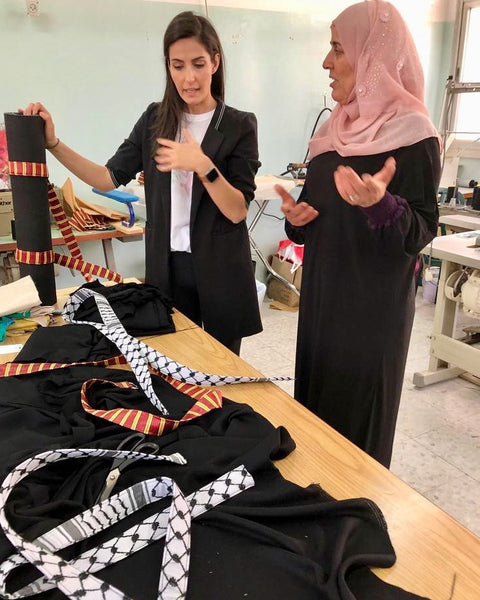 Straps by Sarab - Sarab working with women from Al Amari Refugee camp