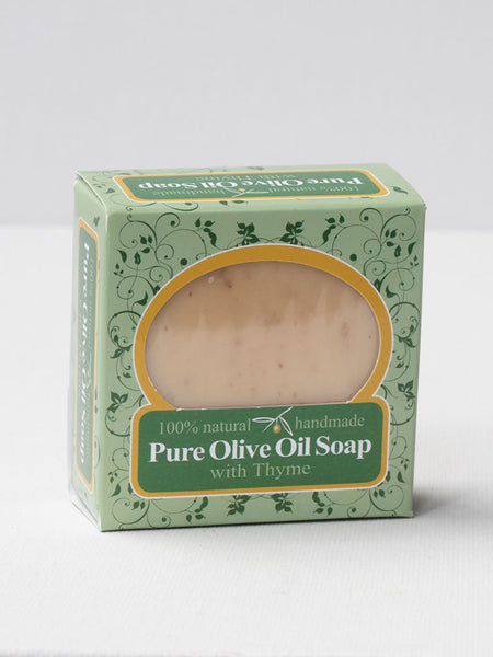 olive oil soap bar with thyme