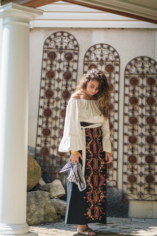 palestinian embroidered thobe