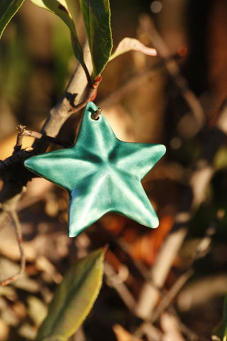 Star Ceramic Christmas Ornament