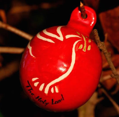 Red Dove Ceramic Christmas Ornament