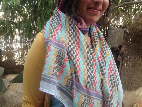 stylish colorful shemagh scarf