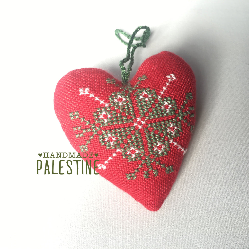 Christmas Ornament - Red Heart