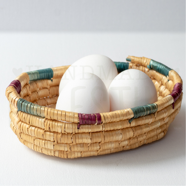 Hand Woven Straw Basket