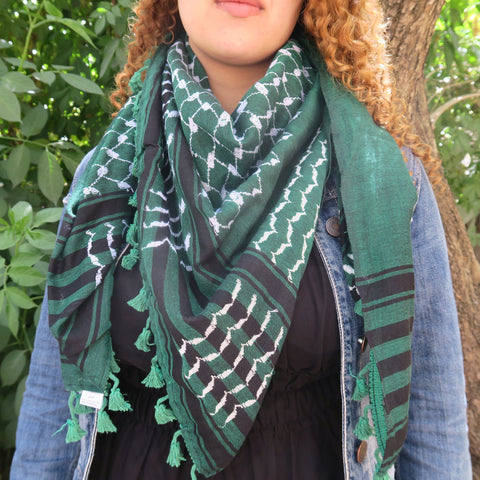 Keffiyeh in Olive Green Style - Wholesale Test