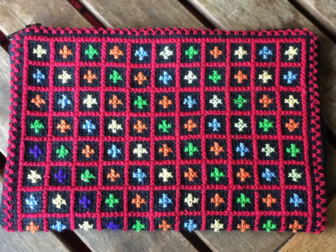 Traditional Tatreez Coin Purse in Rainbow Xs